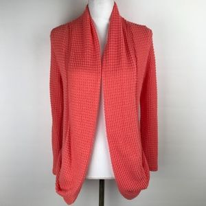 Pixley Large Cardigan Coral Open Front